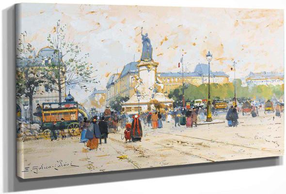 La Place De La Republique by Eugene Galien Laloue