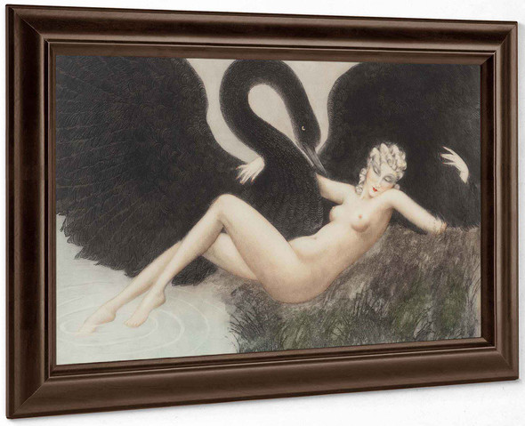 Leda And The Swan 1934 by Louis Icart
