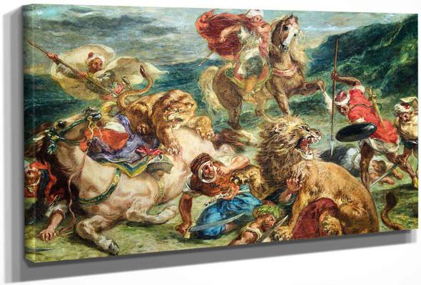 Lion Hunt2 by Eugene Delacroix