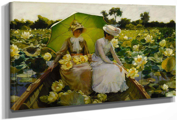 Lotus Liliesa by Charles Courtney Curran