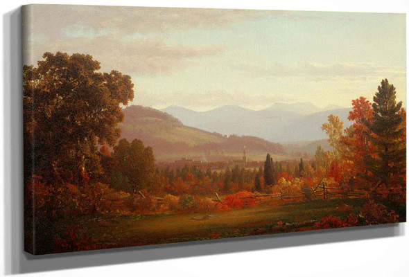 Mount Merino And The City Of Hudson In Autumn by Sanford Robinson Gifford
