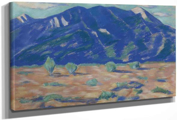 Pueblo Mountain New Mexico by Marsden Hartley