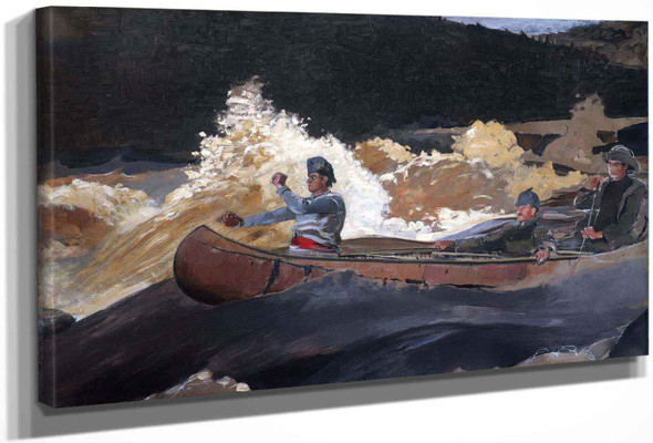 Shooting The Rapids Saguenay River by Winslow Homer