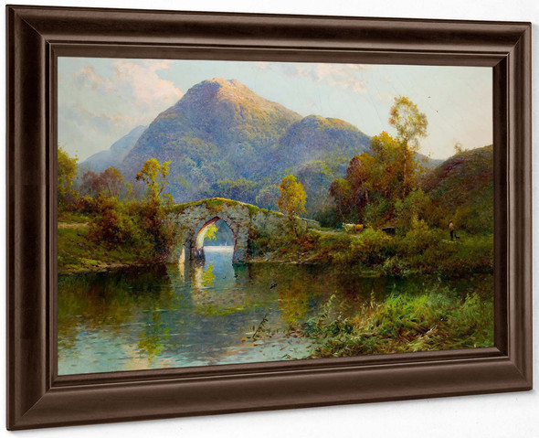 The Brickeen Bridge Killarney by Alfred De Breanski
