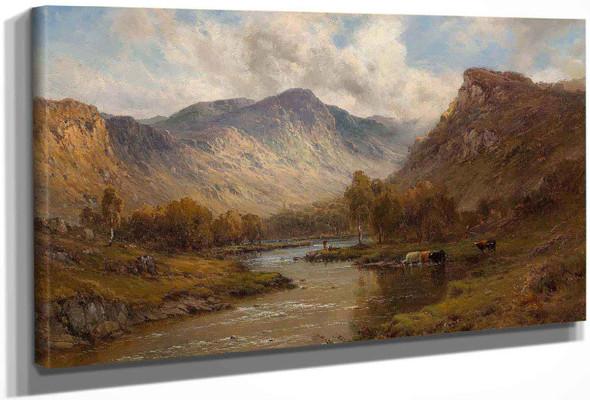 The Tay Near Dunkeld Scotland by Alfred De Breanski