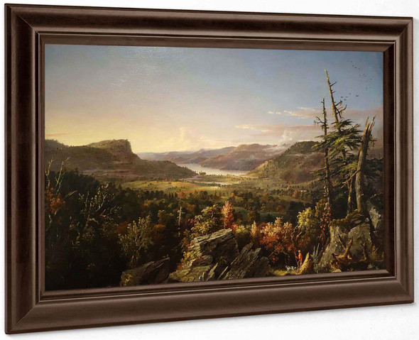View Of Greenwood Lake New Jersey By Jasper Francis Cropsey Art Reproduction by Jasper Francis Cropsey