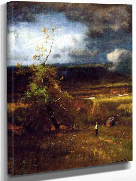 Gethering Clouds By George Inness