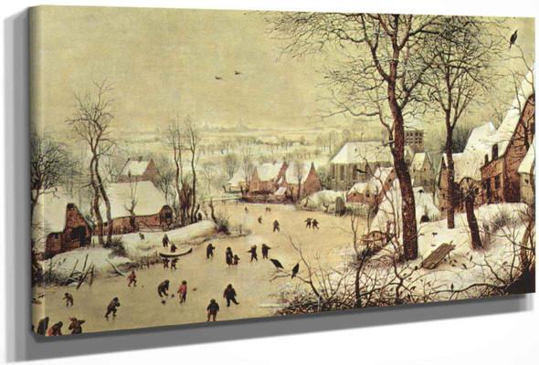 Winterlandscape With Skaters And Bird Trap by Pieter Bruegel The Elder