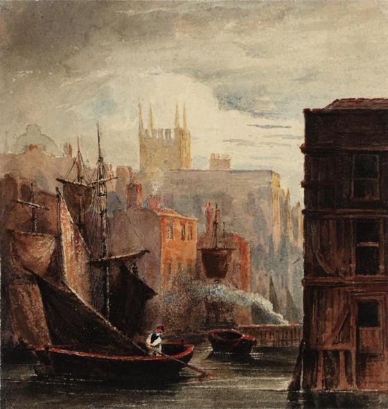 A River Scene by David Cox
