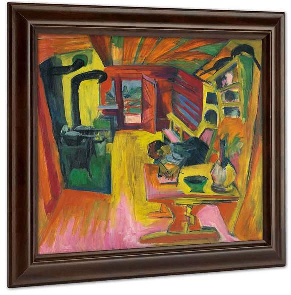Alpine Kitchen 1918 by Ernst Ludwig Kirchner