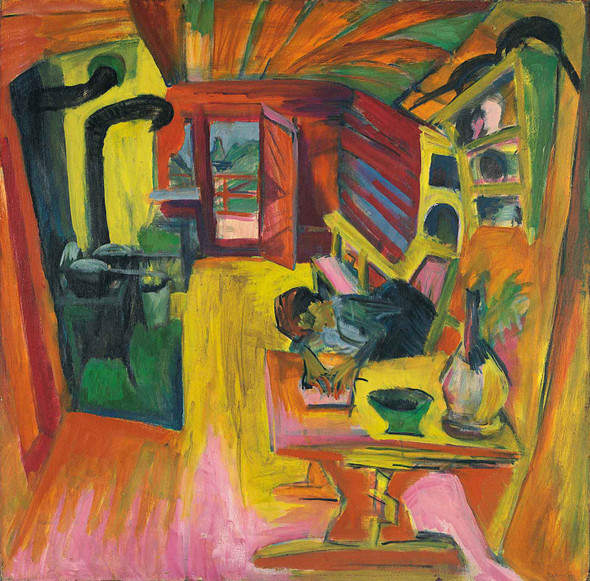 Alpine Kitchen 1918 by Ernst Ludwig Kirchner