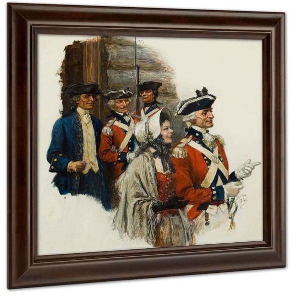 Revolutionary War Scene by Norman Mills Price