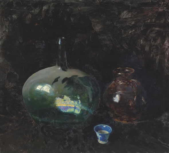 The Dusty Bottle by Nc Wyeth
