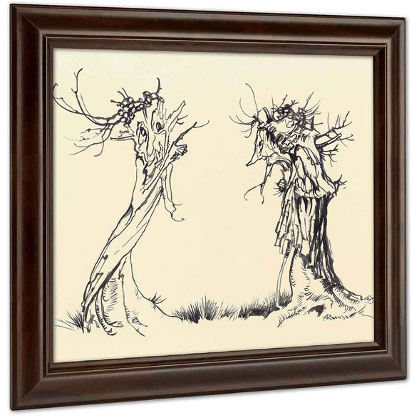 Two Trees by Arthur Rackham