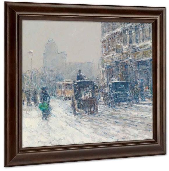 Winter New York (Winter Morning On Broadway) by Childe Hassam