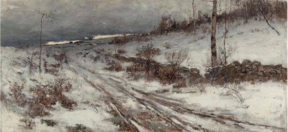 A Winters Day 1882 by Bruce Crane
