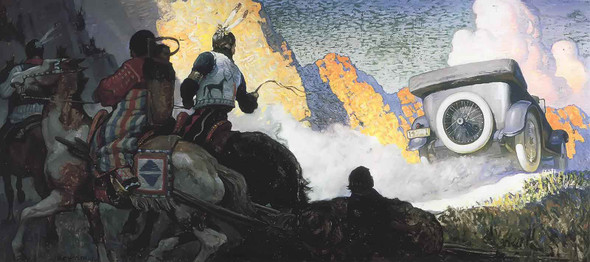 Fisk Cord Tires by Nc Wyeth