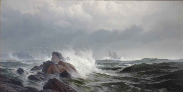 Off Normans Woe by Edward Moran