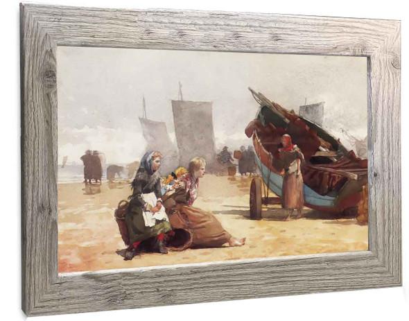 Beach Scene Cullercoats Winslow Homer