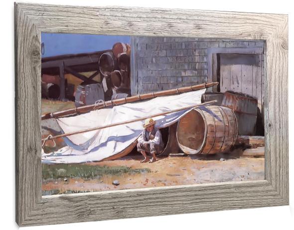 Boy In  A Boatyard Winslow Homer