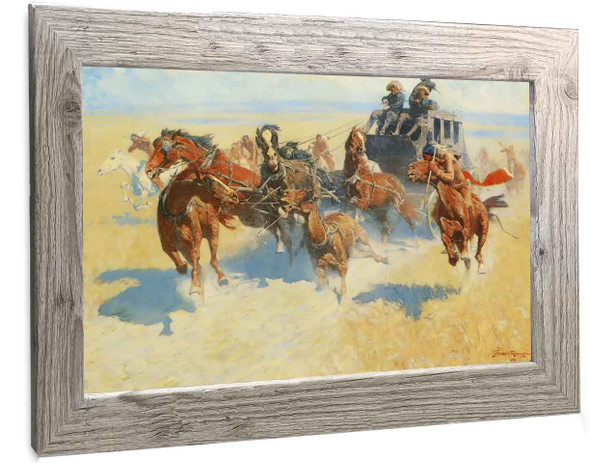 Downing The Nigh Leader Frederic Remington