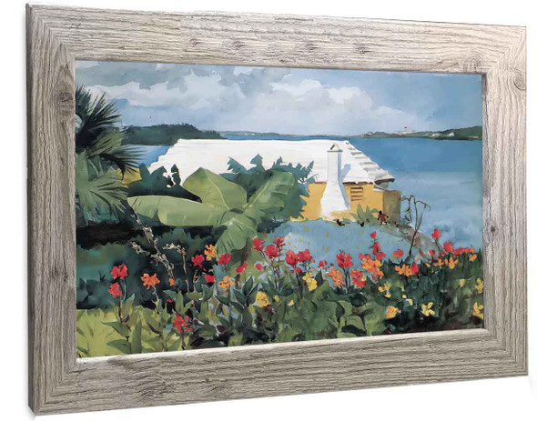 Flower Garden And Bungalow Bermuda Winslow Homer