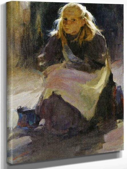Girl By Abram Efimovich Arkhipov