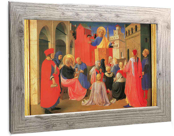 Linaiuoli Tabernacle Peter Preaching With Mark Fra Angelico2