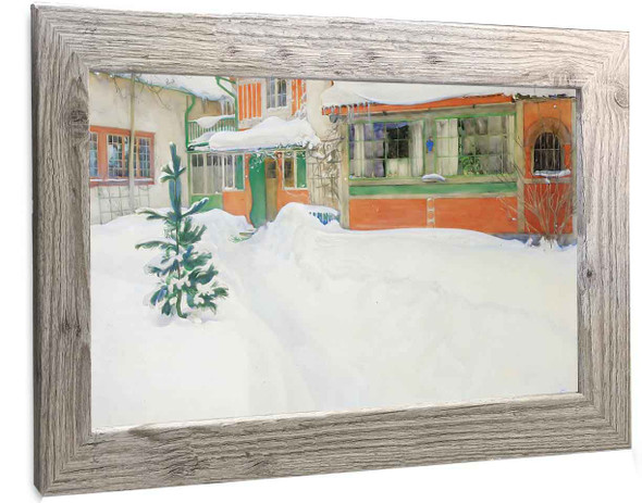 The Cottage In The Snow Carl Larsson