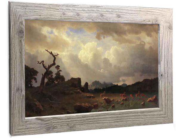 Thunderstorm In The Rocky Mountains Albert Bierstadt