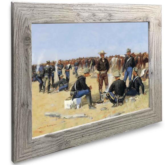 A Cavalrymans Breakfast On The Plains Frederic Remington