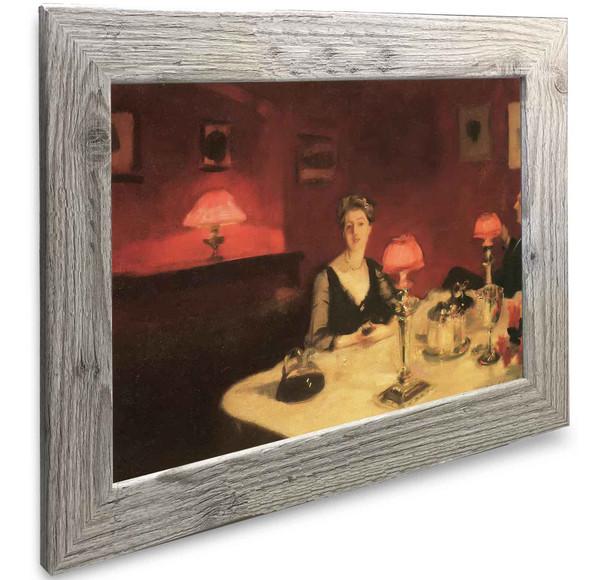 A Dinner Tabvle At Night John Singer Sargent
