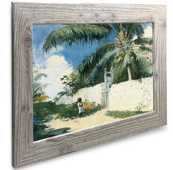 A Garden In Nassau Winslow Homer
