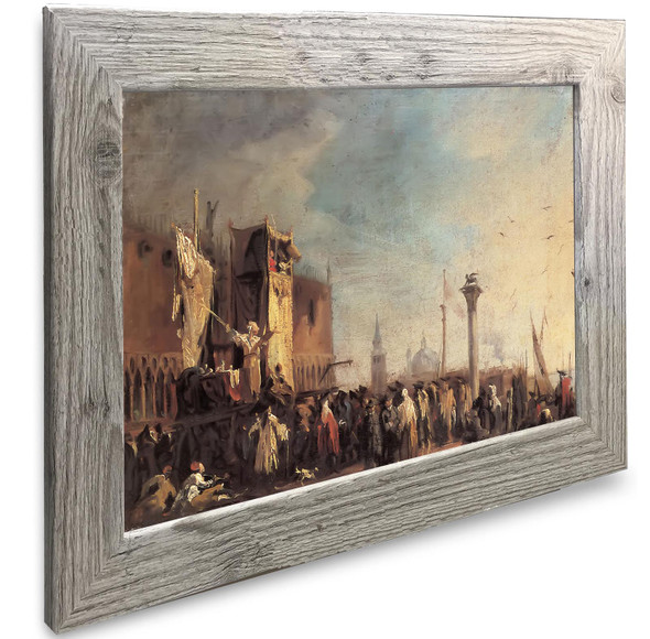 A Puppet Show On The Piazetta Canaletto