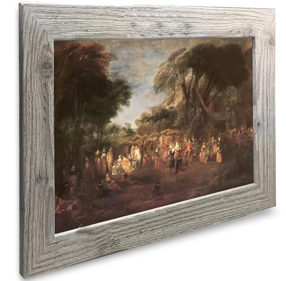 Actors At A Fair Antoine Watteau