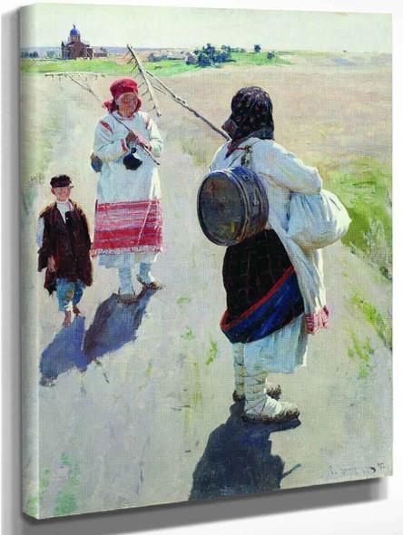 Going To Work By Sergei Arsenevich Vinogradov Russian 1869 1938