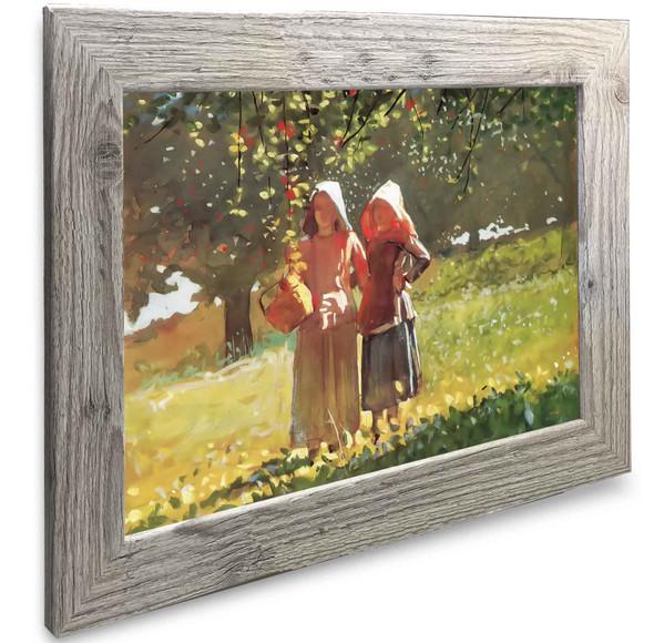 Apple Picking Two Girls In Sunbonnets Winslow Homer