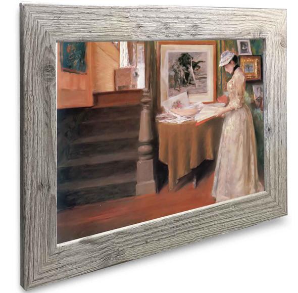Interior Oun Woman At A Table William Merritt Chase