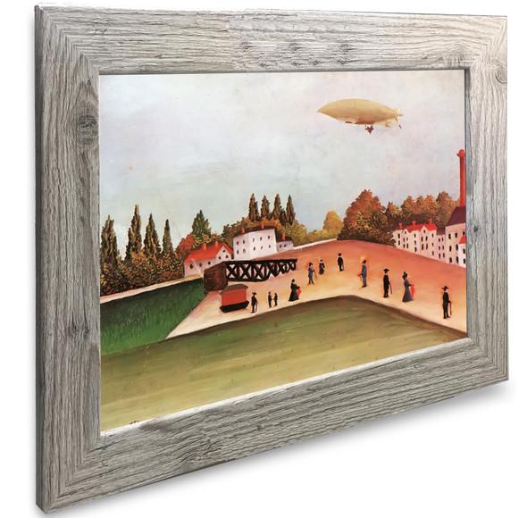 Landscape With Crane And The Zeppelin Henri Rousseau