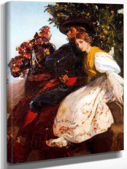 Grupa Valenciana By Jose Mongrell Torrent(Spanish, 1870 1937)