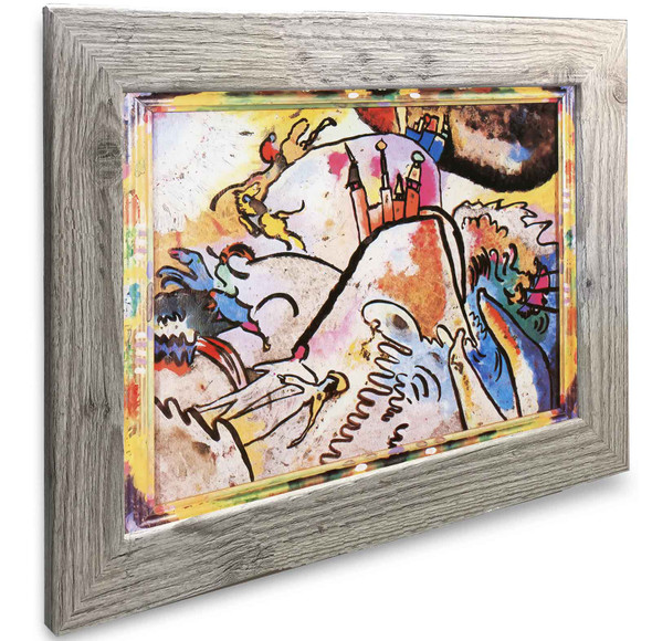 Painting On Glass With Sun Vasili Kadinsky