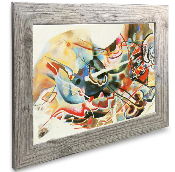 Painting With White Border Vasili Kadinsky