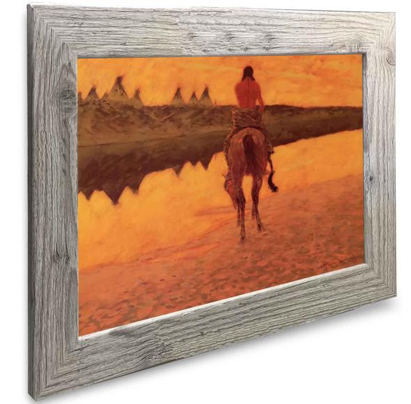 Sunset On The Plains Frederic Remington