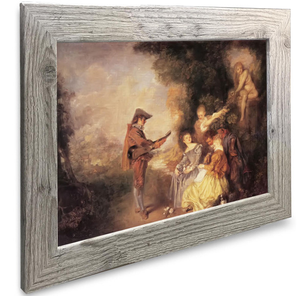 The Love Lesson Antoine Watteau