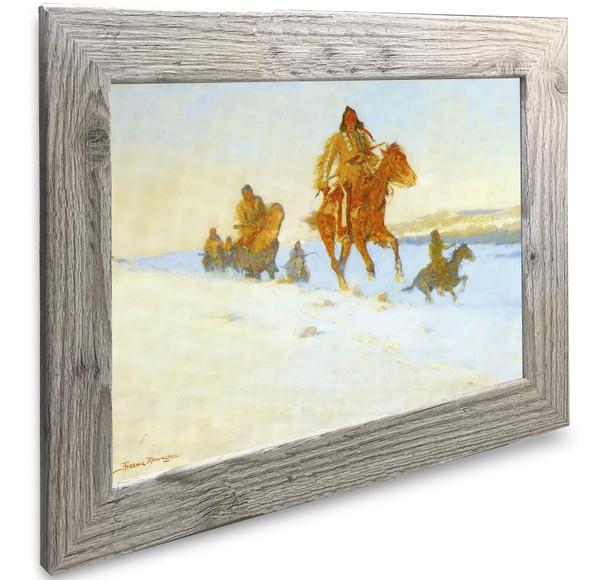 The Snow Trail Frederic Remington