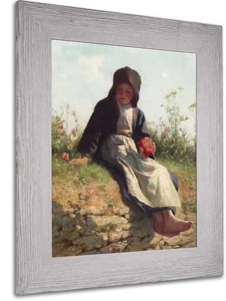 A Breton Girl by Edward Henry Potthast