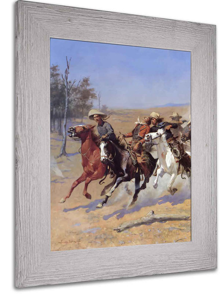 A Dash For The Timber1 by Frederic Remington