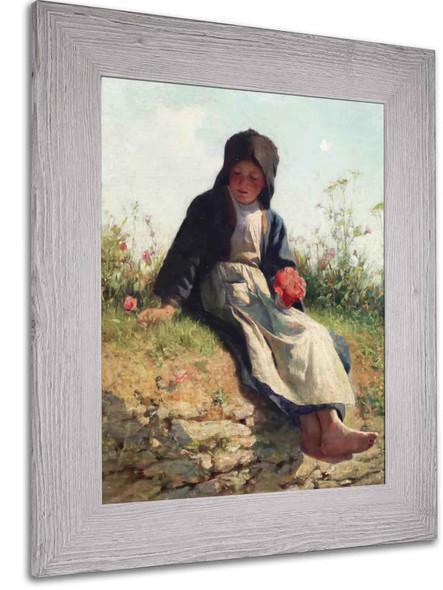 Breton Girl by Edward Henry Potthast