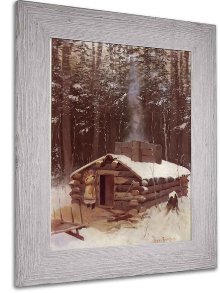 Cabin In The Wood by Frederic Remington