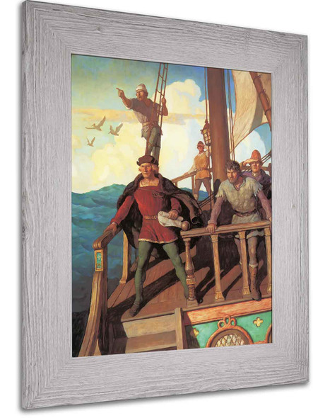 Columbus Sights The New World by Nc Wyeth